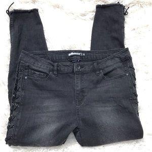 DOLLHOUSE Lace Up ALEXA Skinny Jeans Stretchy - 14
